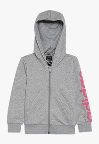adidas Performance - LIN - Hettejakke - mottled grey/pink - 0