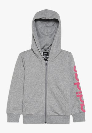 LIN - veste en sweat zippée - mottled grey/pink