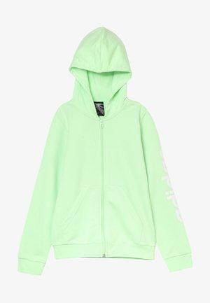 LIN - Mikina na zip - light green/white