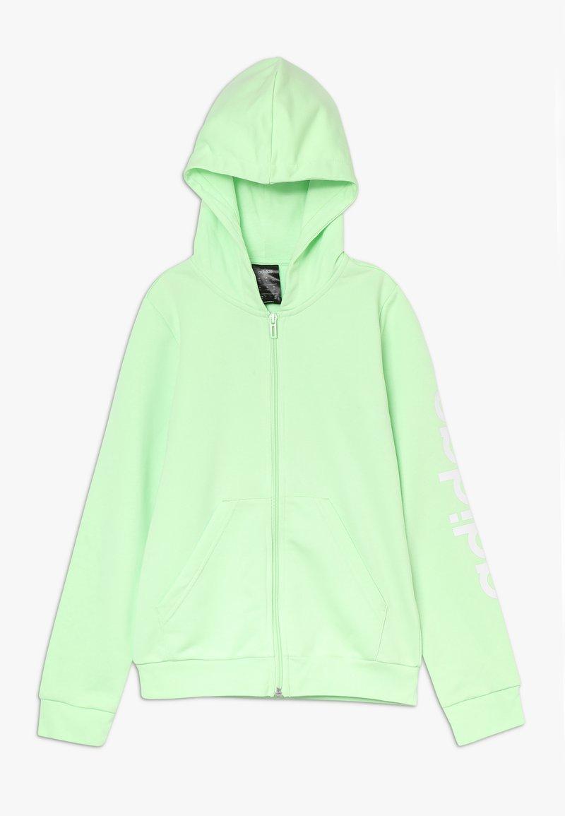 adidas Performance - LIN - Felpa aperta - light green/white