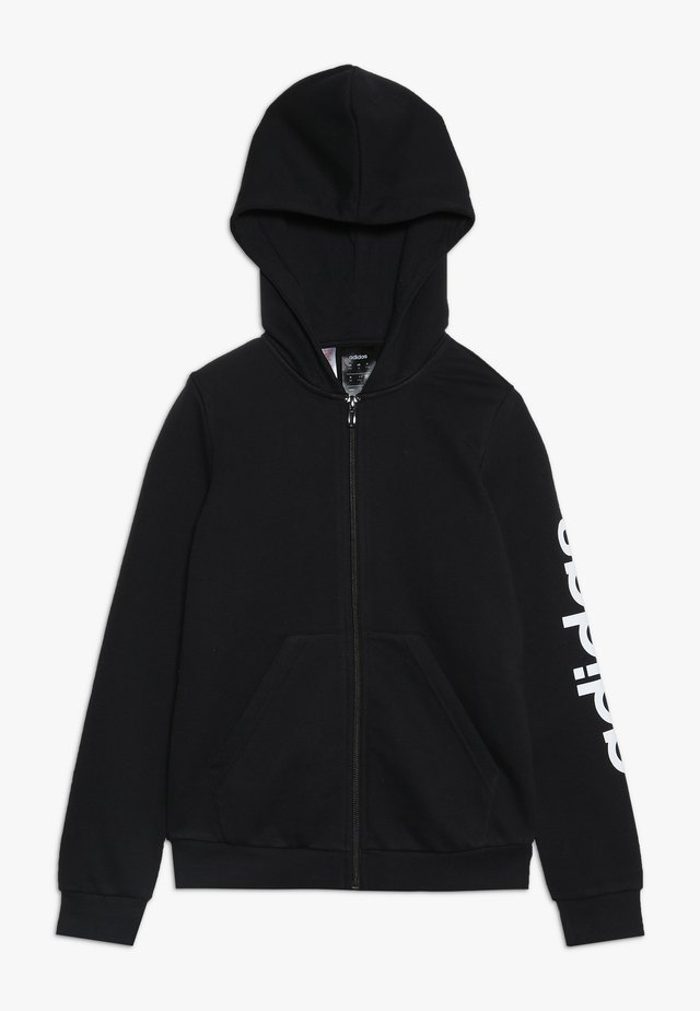 LIN - Zip-up hoodie - black/white