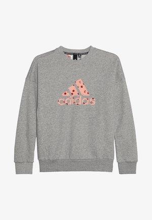 CREW - Sweatshirt - medium grey heather /glow pink