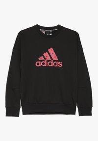 adidas Performance - CREW - Collegepaita - black/pink - 0