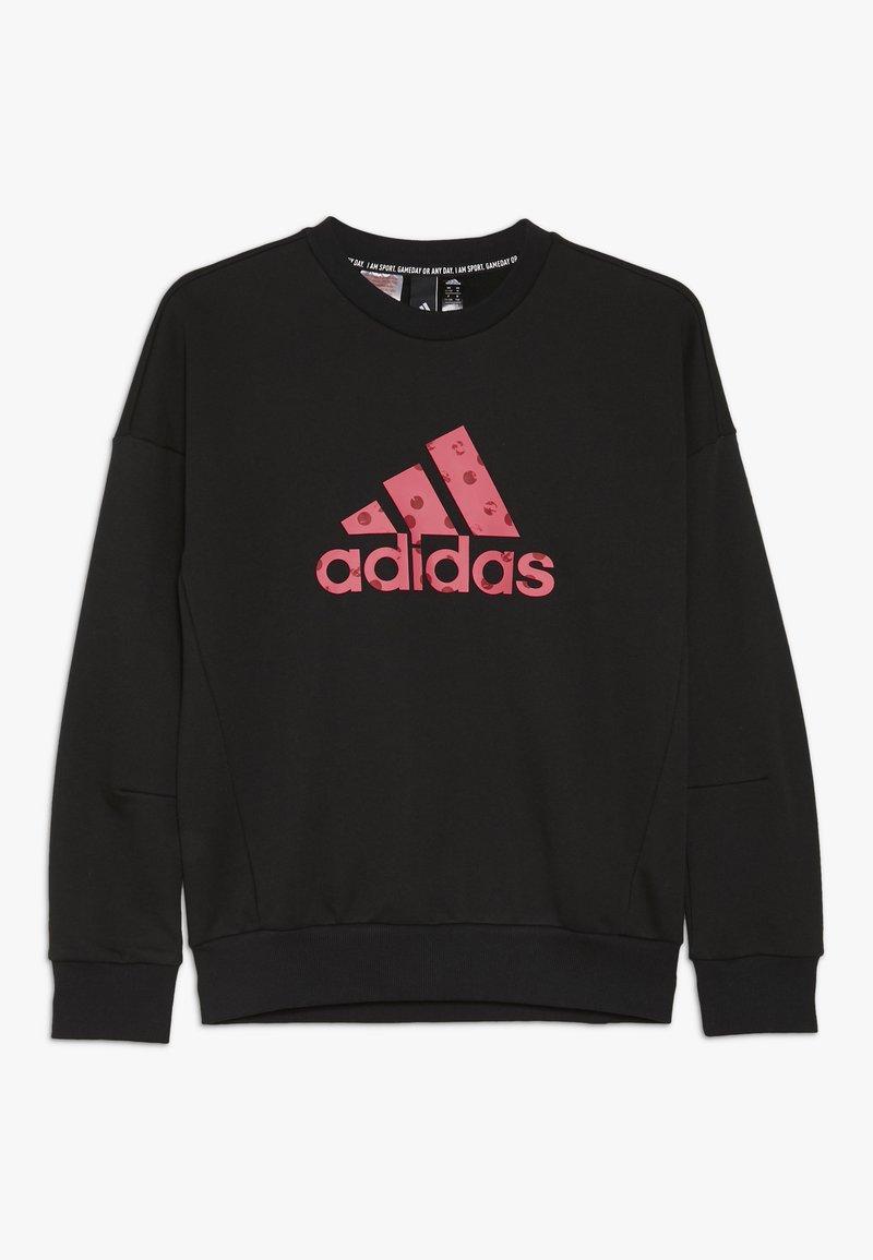 adidas Performance - CREW - Sudadera - black/pink