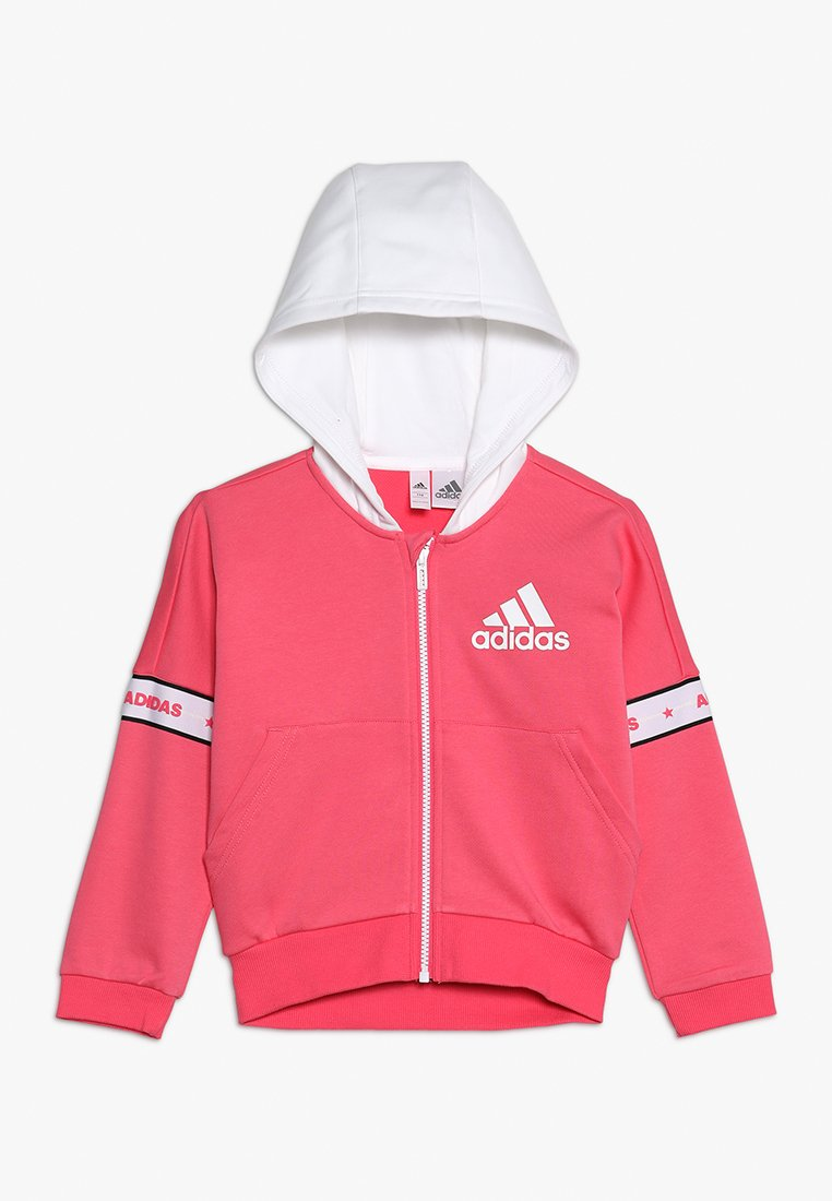 adidas Performance - Zip-up hoodie - pink/white