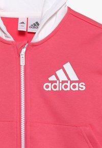 adidas Performance - Zip-up hoodie - pink/white - 4