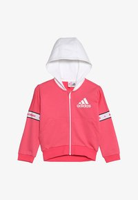 adidas Performance - Zip-up hoodie - pink/white - 3