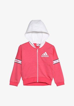 veste en sweat zippée - pink/white