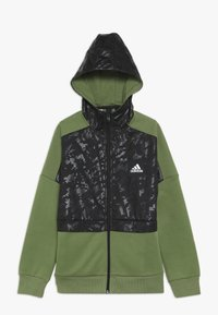 adidas Performance - ID COVER UP - Mikina na zip - olive/black - 0