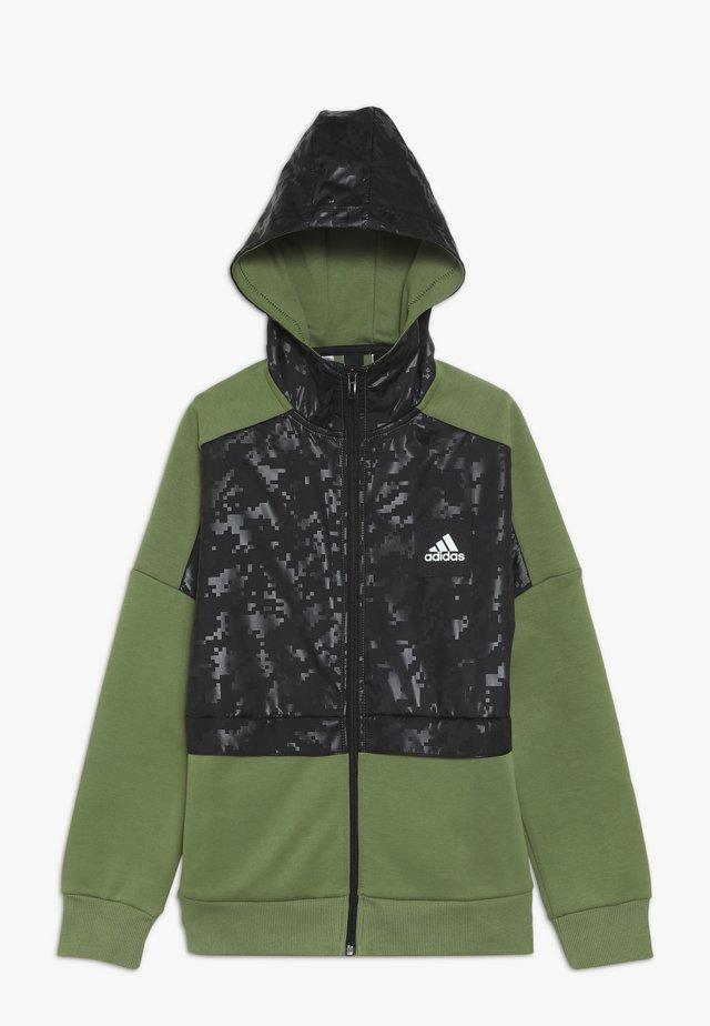 ID COVER UP - Zip-up hoodie - olive/black