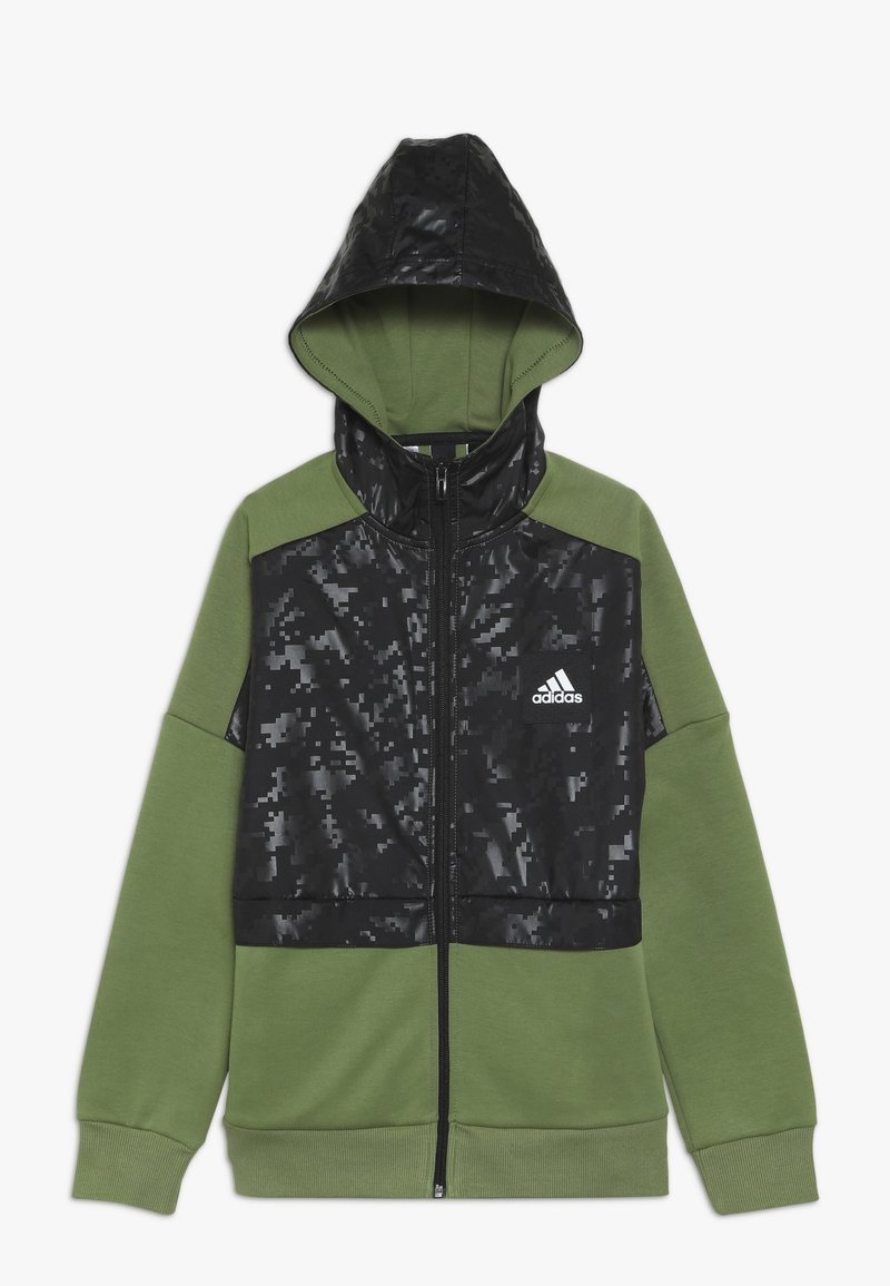 adidas Performance - ID COVER UP - Mikina na zip - olive/black