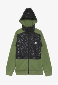 adidas Performance - ID COVER UP - Mikina na zip - olive/black - 3