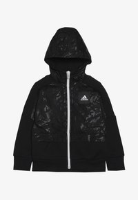 adidas Performance - ID COVER UP - Mikina na zip - black/white - 2