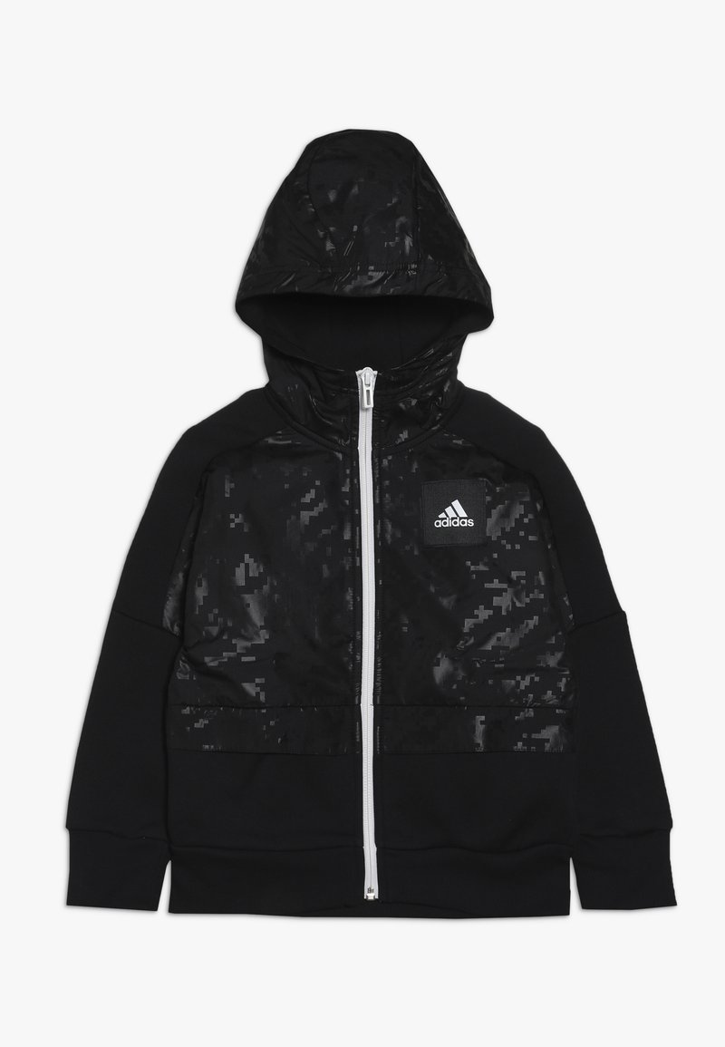 adidas Performance - ID COVER UP - Mikina na zip - black/white