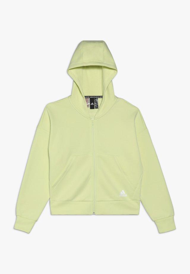 Zip-up hoodie - yeltin/white