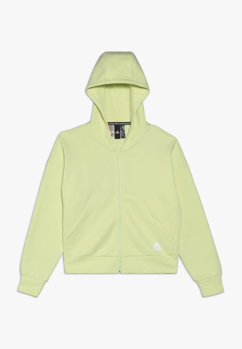 adidas Performance - Zip-up hoodie - yeltin/white