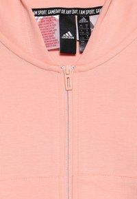 adidas Performance - Zip-up hoodie - glow pink/white - 2