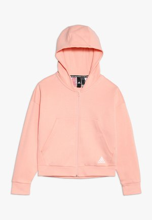 veste en sweat zippée - glow pink/white