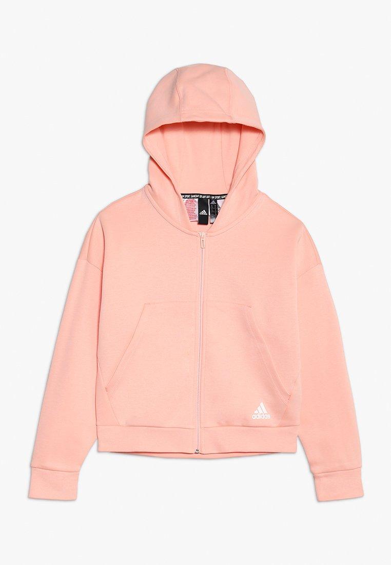 adidas Performance - Zip-up hoodie - glow pink/white