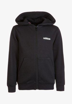 ESSENTIALS LINEAR HOODIE - Zip-up hoodie - black / white