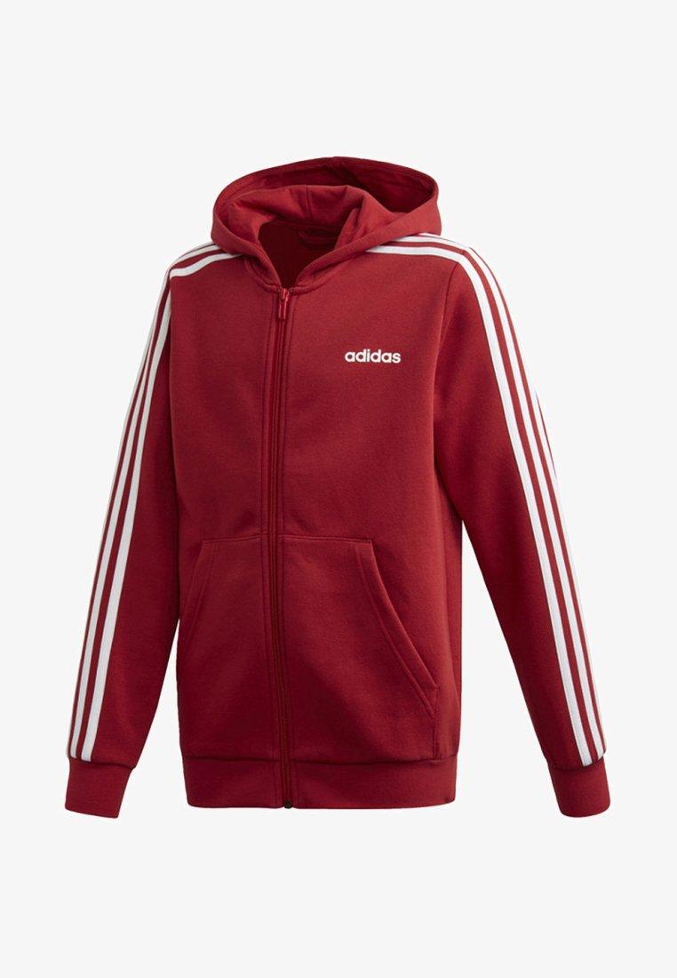 adidas Performance - ESSENTIALS 3-STRIPES HOODIE - Trainingsjacke - red