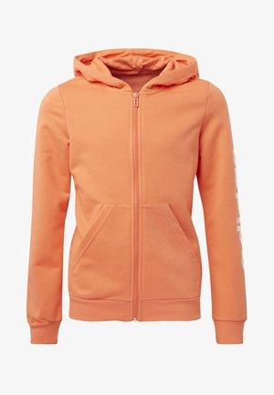 LINEAR HOODIE - Felpa aperta - orange