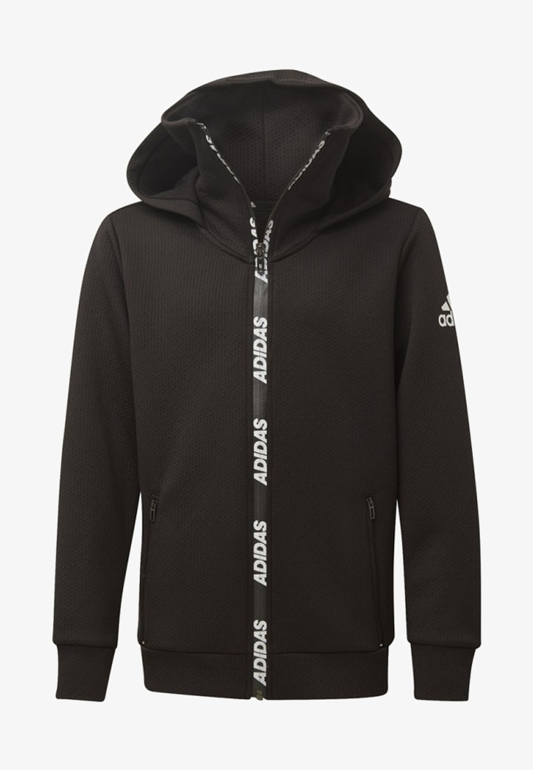 adidas Performance - CLIMAWARM HOODIE - Huvtröja med dragkedja - black