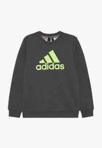 adidas Performance - CREW - Sweatshirt - dark grey/green - 0