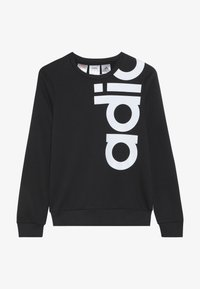 adidas Performance - LOGO CREW - Sweatshirt - black/white