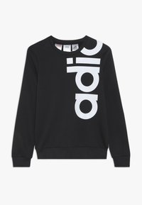 adidas Performance - LOGO CREW - Sweatshirt - black/white - 0