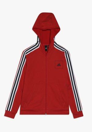 Zip-up hoodie - vivred/white/black
