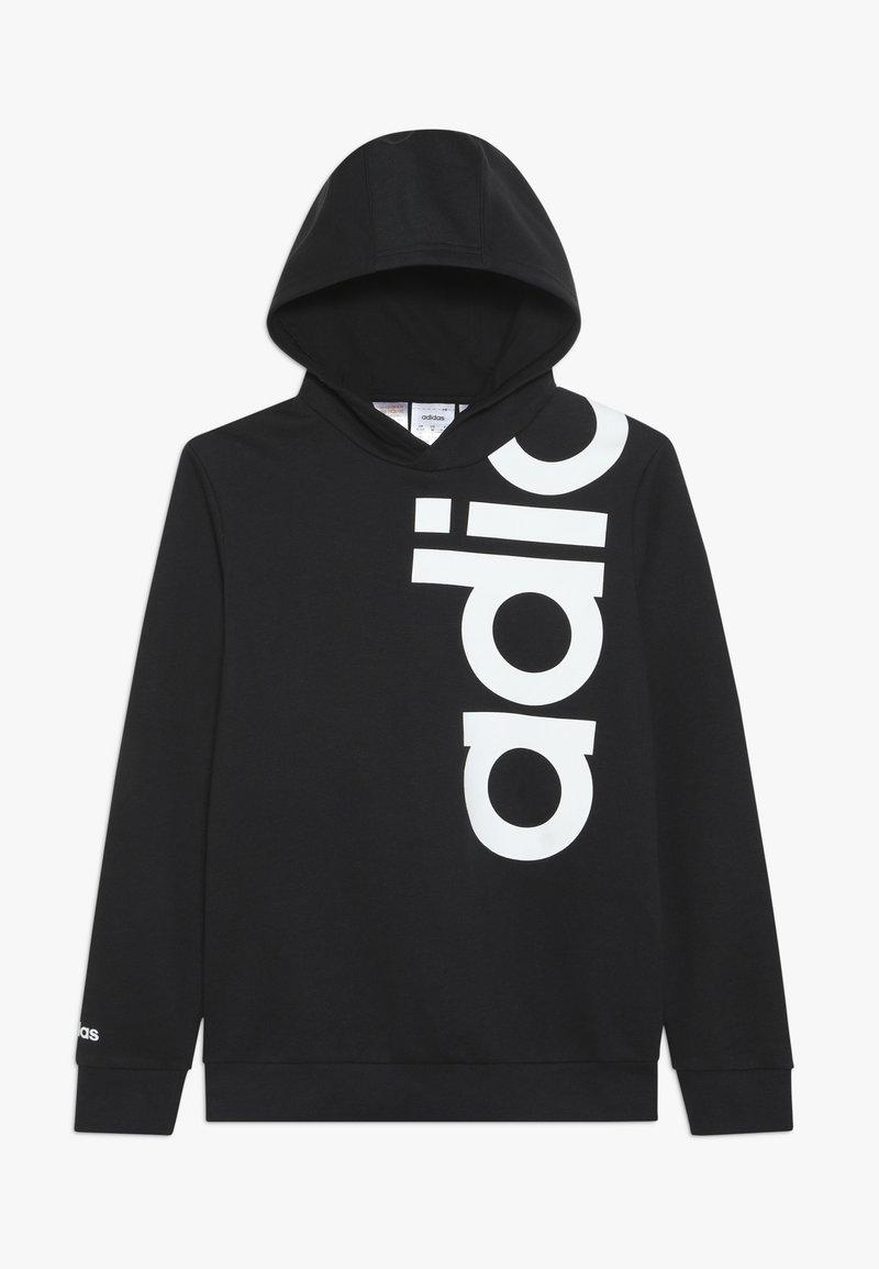 adidas Performance - LOGO - Jersey con capucha - black/white