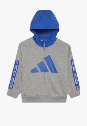Mikina na zip - grey/blue