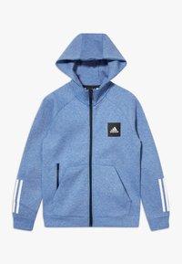 adidas Performance - Zip-up hoodie - blue melange - 0