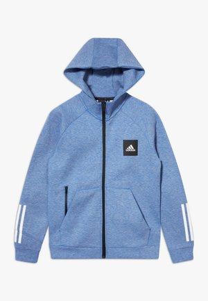 Zip-up hoodie - blue melange