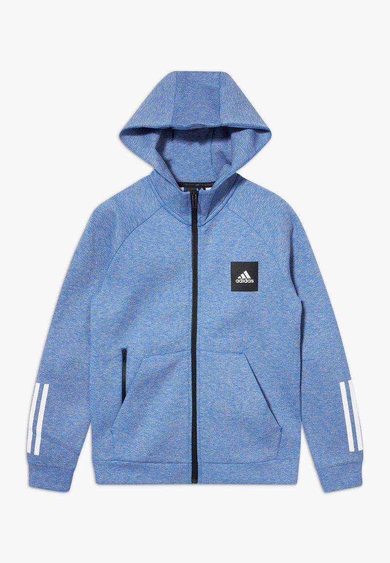 adidas Performance - Zip-up hoodie - blue melange
