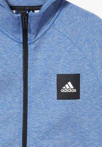 adidas Performance - Zip-up hoodie - blue melange - 2