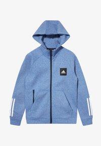 adidas Performance - Zip-up hoodie - blue melange - 3