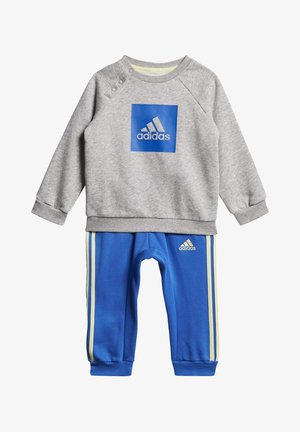 STRIPES FLEECE JOGGER SET - Felpa - grey