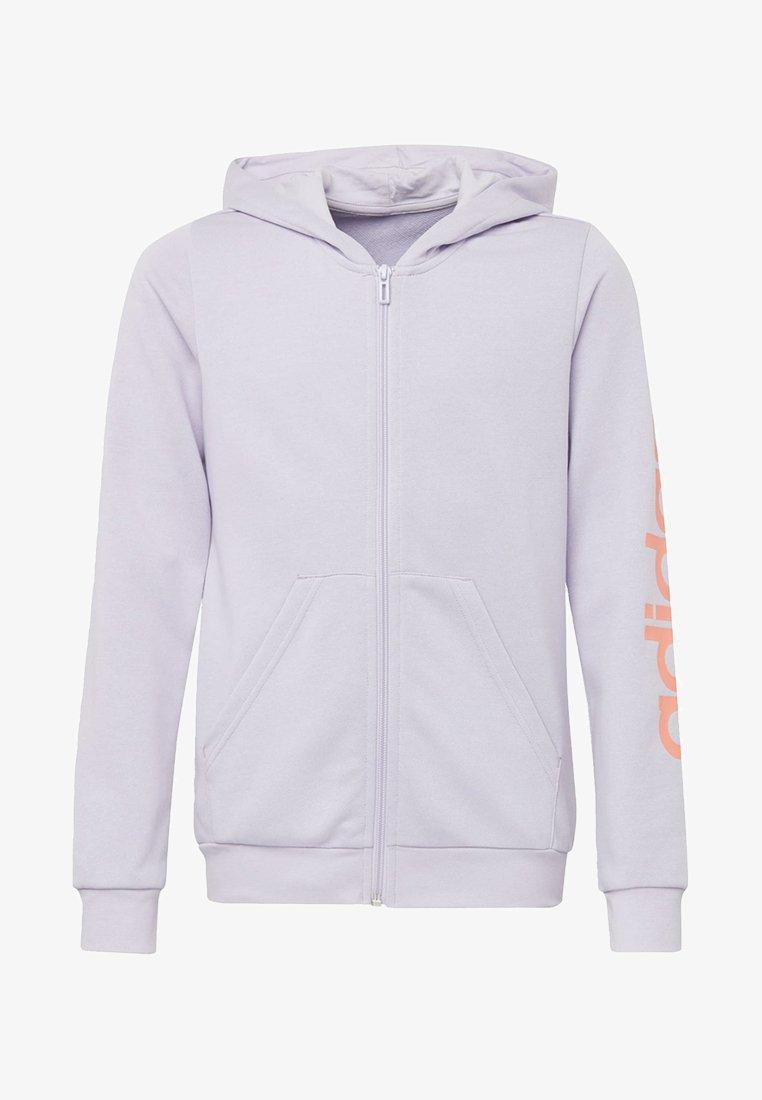 adidas Performance - LINEAR HOODIE - veste en sweat zippée - purple tint