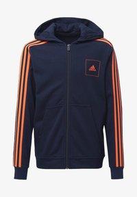 adidas Performance - ADIDAS ATHLETICS CLUB HOODIE - Zip-up hoodie - blue - 0