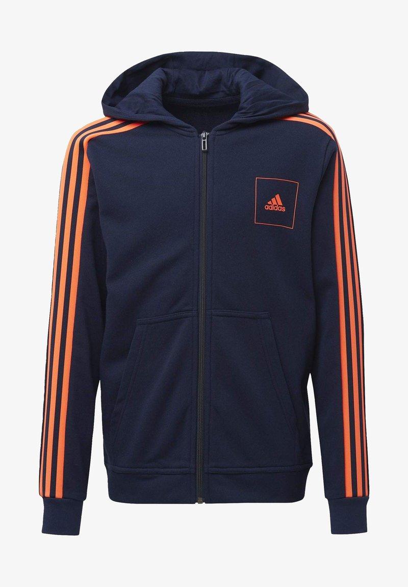adidas Performance - ADIDAS ATHLETICS CLUB HOODIE - Zip-up hoodie - blue