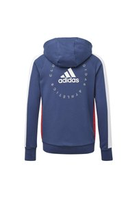 adidas Performance - ADIDAS ATHLETICS CLUB  HOODIE - veste en sweat zippée - blue