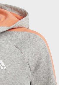 adidas Performance - ATHLETICS CLUB  HOODIE - Felpa aperta - grey - 5