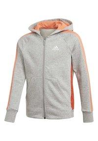 adidas Performance - ATHLETICS CLUB  HOODIE - veste en sweat zippée - grey - 6