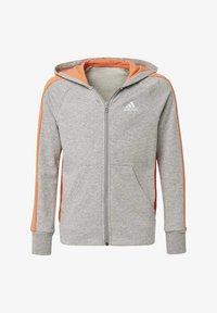 adidas Performance - ATHLETICS CLUB  HOODIE - veste en sweat zippée - grey - 0