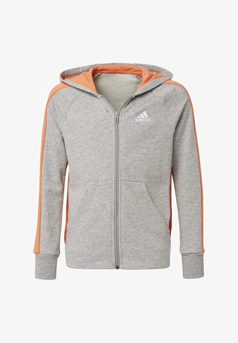 adidas Performance - ATHLETICS CLUB  HOODIE - Felpa aperta - grey