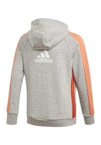 adidas Performance - ATHLETICS CLUB  HOODIE - Felpa aperta - grey - 2