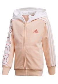 adidas Performance - BRANDED KNIT JACKET - Zip-up hoodie - pink - 2