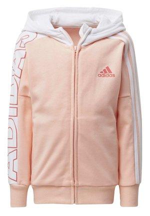 BRANDED KNIT JACKET - Zip-up hoodie - pink